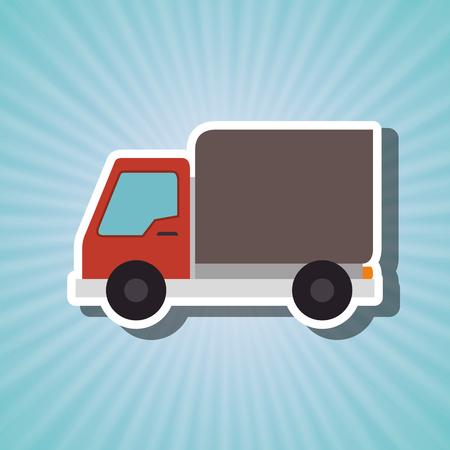 camion isolé conception, vecteur illustration graphique eps10
