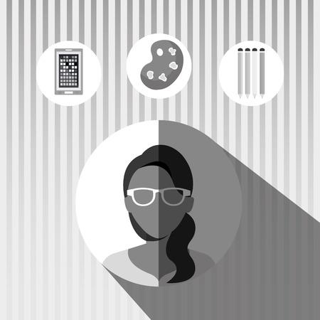 graphic illustration: graphic design concept , vector illustration eps10 graphic