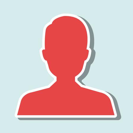eps10 vector: user avatar design, vector illustration eps10 graphic