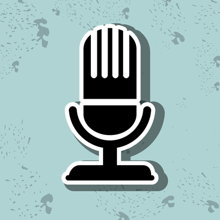voices: microphone icon design, vector illustration eps10 graphic
