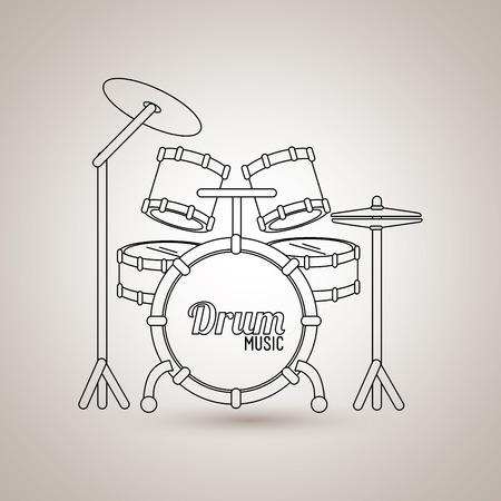 musical instrument design, vector illustration eps10 graphic Illustration