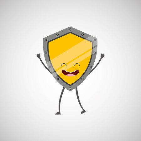 confrontation: shield character design, vector illustration eps10 graphic Illustration