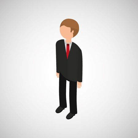 different jobs: isometric people  design
