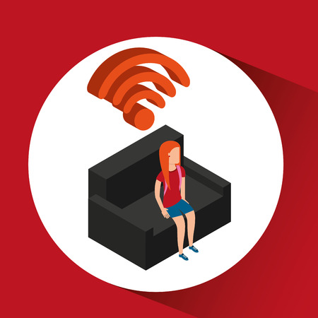 white sofa: Sofa icon design over white background, vector illustration Illustration