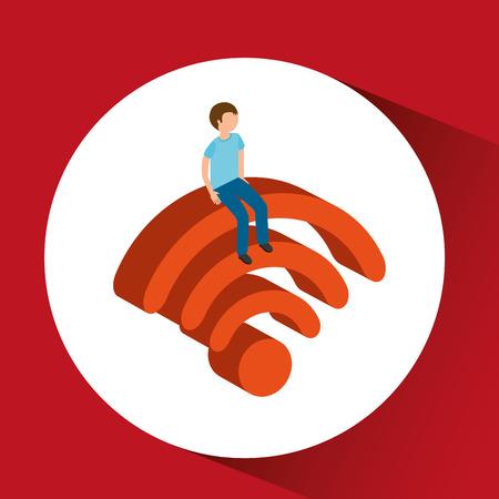 wireless signal: wireless signal isometric design