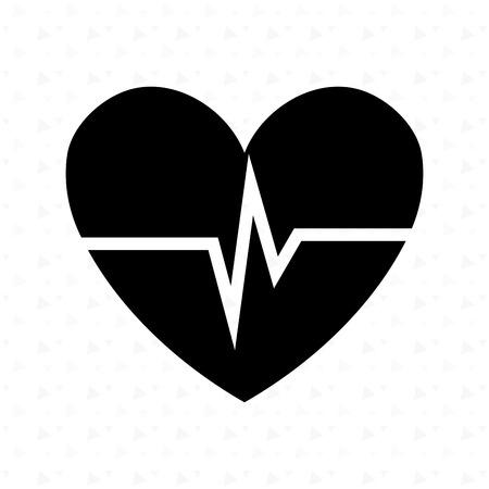 beat: heart beat design, vector illustration eps10 graphic Illustration