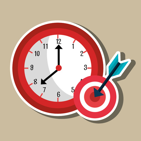 時間管理の設計  イラスト・ベクター素材