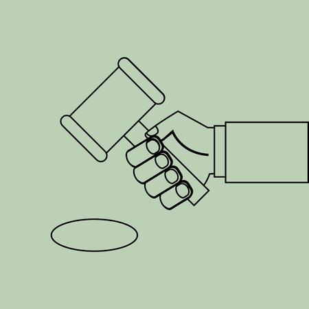 punish: justice system concept design, vector illustration eps10 graphic
