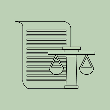 verdicts: justice system concept design, vector illustration eps10 graphic