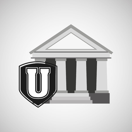 educational institution: university icon design, vector illustration eps10 graphic