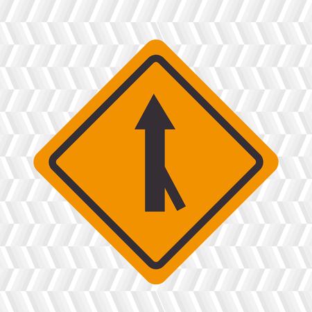 road design: road sign design, vector illustration eps10 graphic Illustration