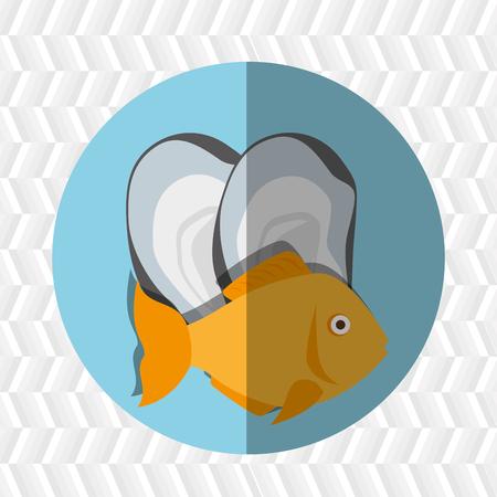 seafood dinner: seafood dinner design, vector illustration eps10 graphic