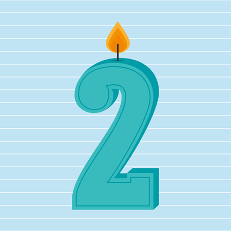 number candles: candles years number design, vector illustration eps10 graphic