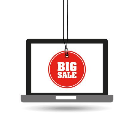e commerce icon: electronic commerce design, vector illustration eps10 graphic