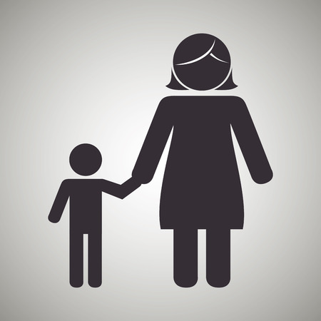 young relationship: family members design, vector illustration eps10 graphic