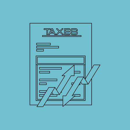 taxation: taxes due design, vector illustration eps10 graphic