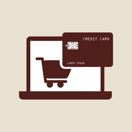e market: electronic commerce design, vector illustration eps10 graphic