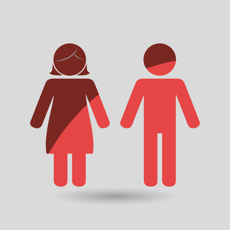young relationship: family members design Illustration