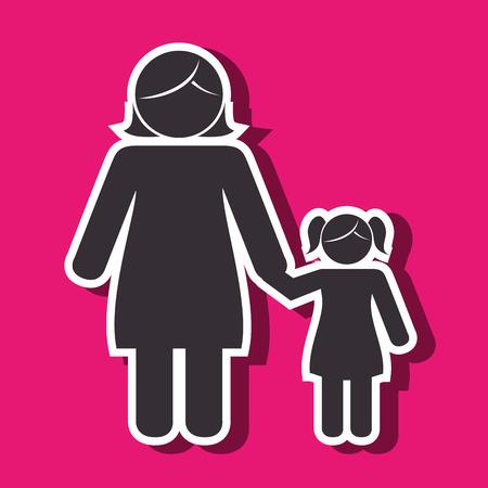 members: family members design Illustration