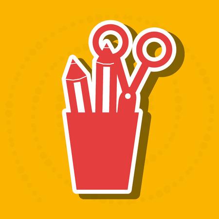 pot holder: pencil holders design, vector illustration eps10 graphic
