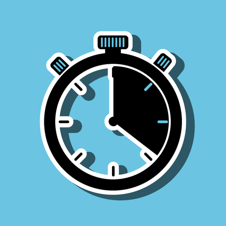 chronometer icon design, vector illustration eps10 graphic Illustration