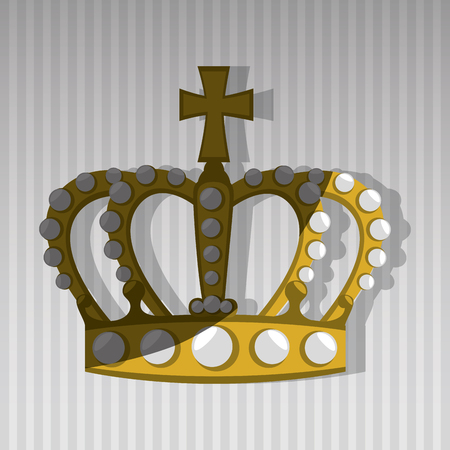 beauty queen: Queens crown design, vector illustration eps10 graphic Illustration