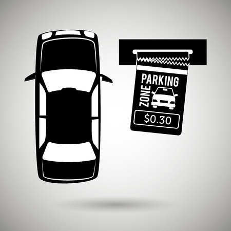 pictogram attention: parking sign design, vector illustration eps10 graphic