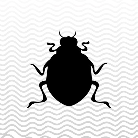 scarabaeidae: beetle silhouette design, vector illustration eps10 graphic