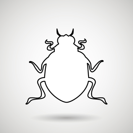 coleoptera: beetle silhouette design, vector illustration eps10 graphic