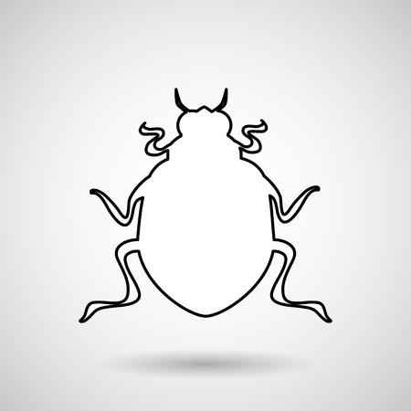 beetle silhouette design, vector illustration eps10 graphic