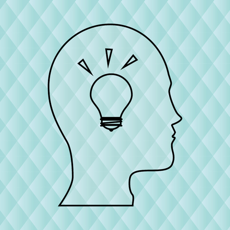 person thinking: person thinking design, vector illustration eps10 graphic