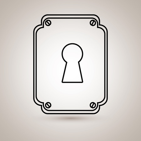 key hole: key hole  design, vector illustration eps10 graphic