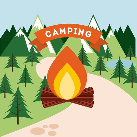 camping trip design, vector illustration eps10 graphic