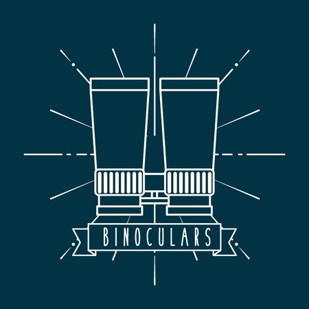 optical image: binoculars icon  design, vector illustration eps10 graphic