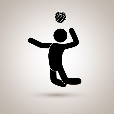 sport man: volleyball player design, vector illustration eps10 graphic Illustration