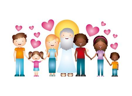katholieke godsdienst ontwerp, vectorillustratie eps10 grafische