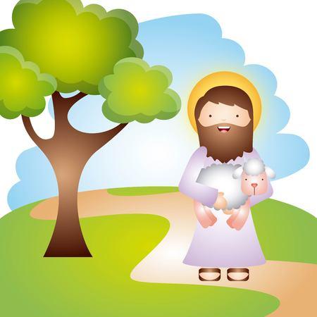 cattolico disegno religione, illustrazione grafica vettoriale eps10