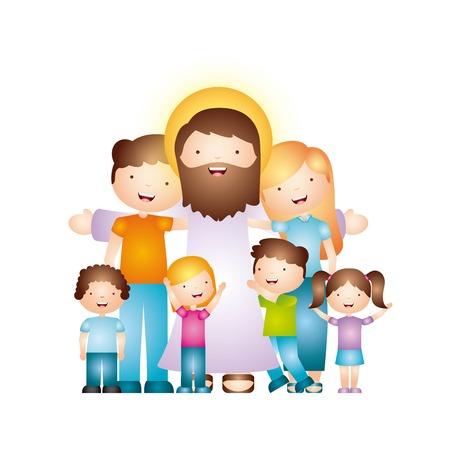 Conception de la religion catholique, illustration graphique eps10 Banque d'images - 56195116