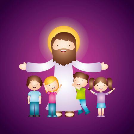 Diseño de la religión católica, ejemplo gráfico del vector eps10 Foto de archivo - 56195132