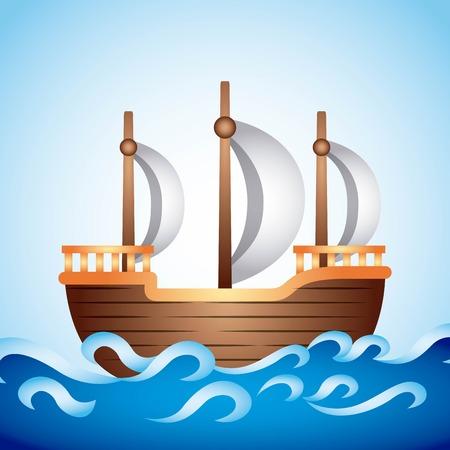 sailer: ship old  design, vector illustration eps10 graphic