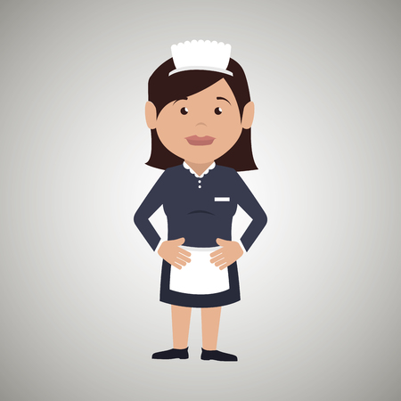 housekeeper woman design, vector illustration eps10 graphic