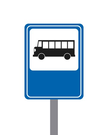 trafic stop: bus concept isolated design, vector illustration eps10 graphic Illustration