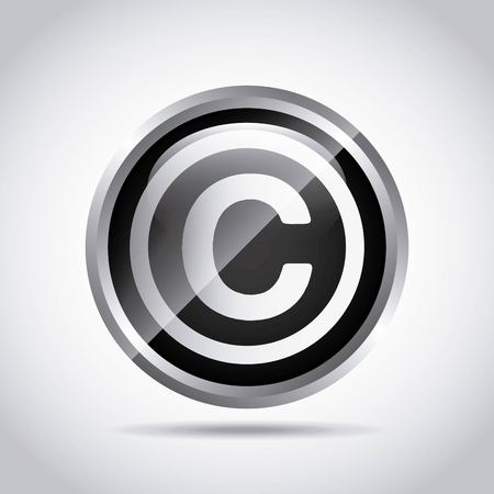 infringement: copyright symbol design, vector illustration eps10 graphic Illustration