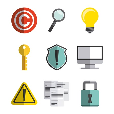 patent key: copyright symbol design, vector illustration eps10 graphic Illustration