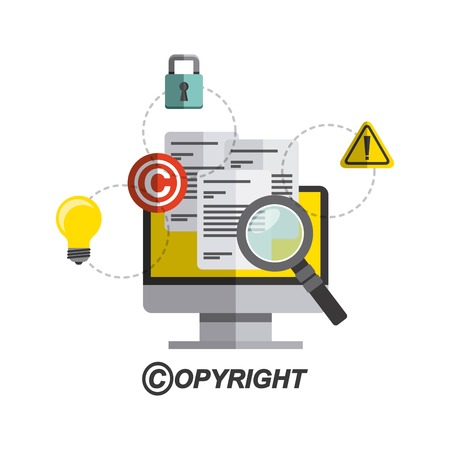 copyright symbol design, vector illustration eps10 graphic Çizim