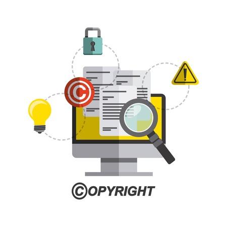 copyright symbool ontwerp, vector illustratie eps10 grafische