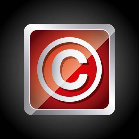 著作権シンボル デザイン、ベクトル図 eps10 グラフィック