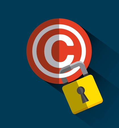 copyright symbol: copyright symbol design, vector illustration eps10 graphic Illustration