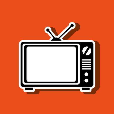 old tv: old tv design, vector illustration eps10 graphic Illustration