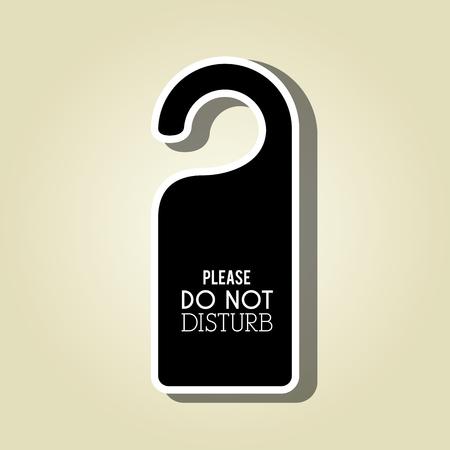 quiet room: do not disturb design, vector illustration eps10 graphic Illustration